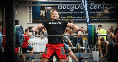barbell complexes from male crossfit athelete