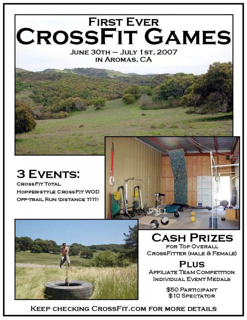 CrossFit Games 2007 flier