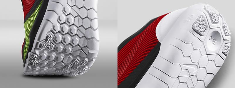 Nike Free Trainer sole and heel view