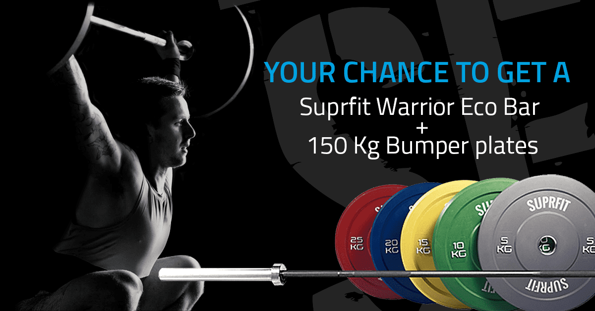 Win a Suprfit Olympic Barbell + 150 kg of Bumper Plates