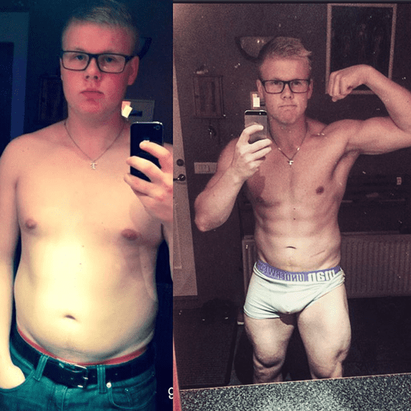 Here is a before and after photo that Birkir Örn Jonsson sent in to BOXROX after 2 years of Crossfit