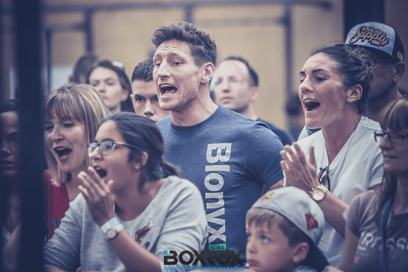 Screaming crowds are a huge part of the atmosphere of Crossfit events.