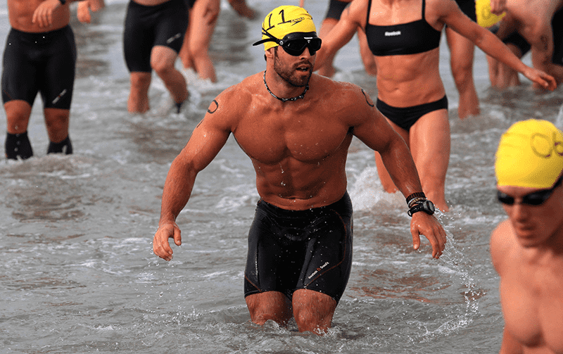 The open water swimming training pays off for Froning