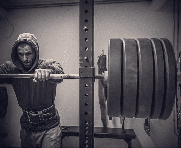 Here is Mikko Salo about to destroy a huge back squat