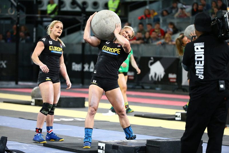 Atlas stones were used during the 2015 Madrid Invitational. Here are the Icelandic Crossfit athletes storming through the WOD (image from Crossfit.com