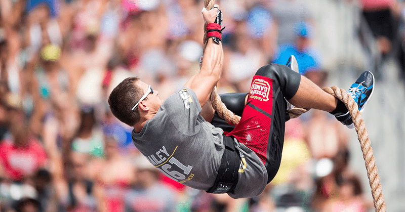 Rope climbs have been a make or break event throughout the history of the Games (image CrossFit)