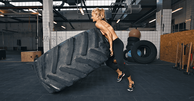 Tire flips add variety and test your strength in new ways