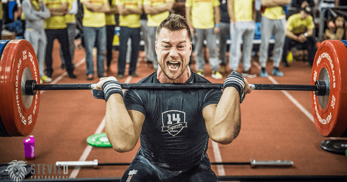 workouts crossfit athlete squat clean barbell lift after injury