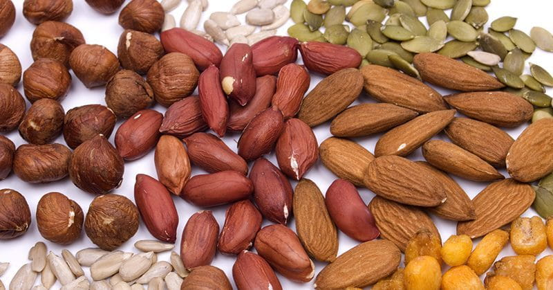 Nuts & seeds are great sources of fats