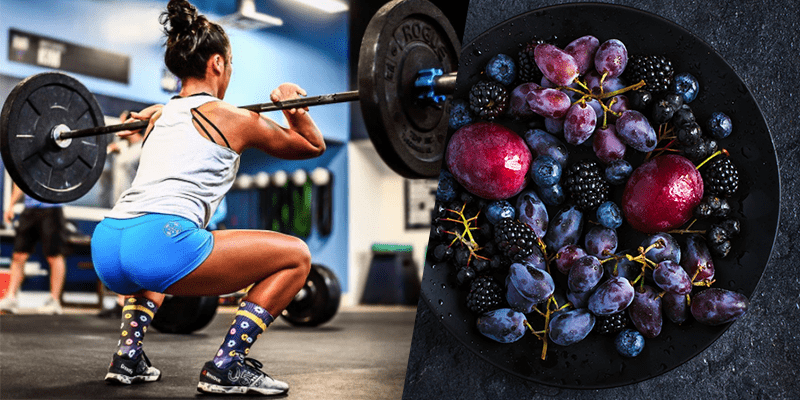 Athlete and fruits