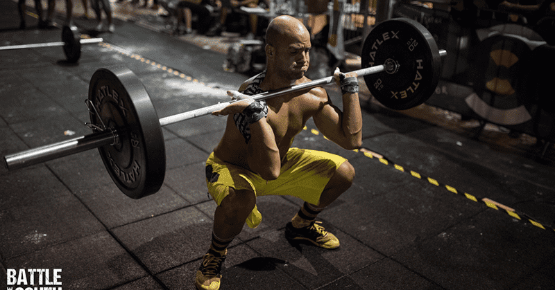 Crossfitter performing a Clean lift