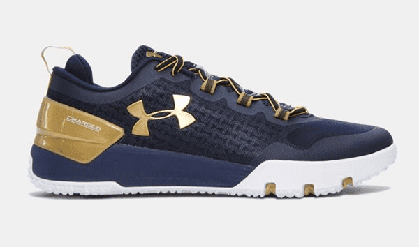 Under Armour Charged Ultimate in midnight navy and gold