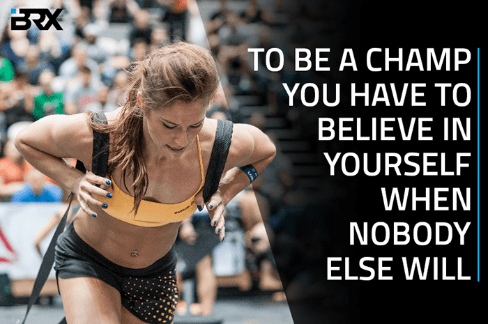 Crossfit motivation champ card