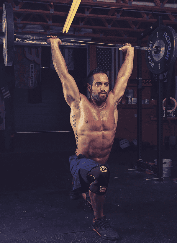 Rich froning overhead lunge midline stability