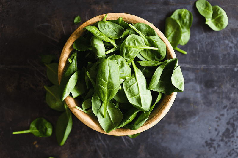 superfoods spinach bowl of leafy greens