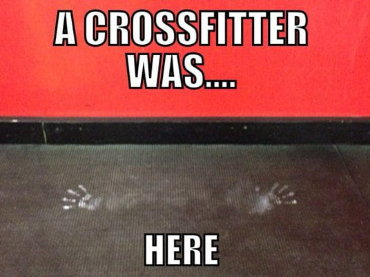 crossfit meme chalk handstand push up
