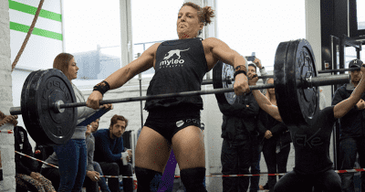 female crossfitter snatch crossfit affiliate