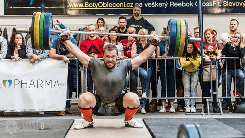 male crossfit athlete snatch lift visualisation