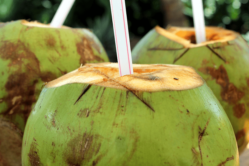 superfoods coconut water straight from the shell