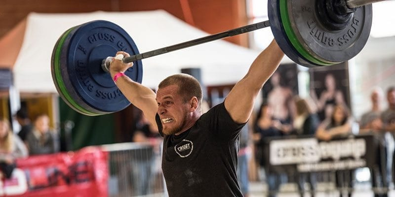 hang snatch crossfitter snatch barbell lift with full hydration