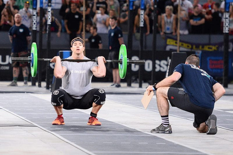 Adrian Mundwiler crossfit nutrition and thrusters at meridian regionals