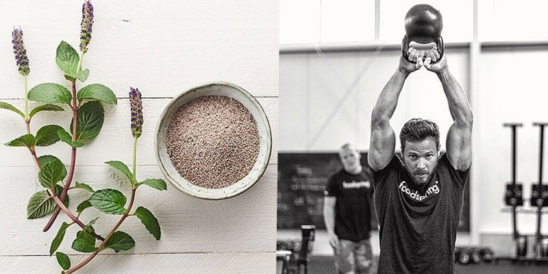 fitness foods kettlebell swing and chia seeds