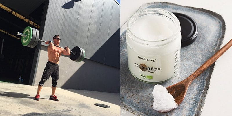 fitness food coconut oil and adrian mundwiler cleaning barbell