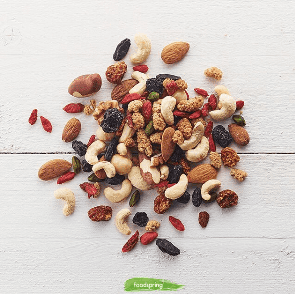 foodspring nutrition nuts and berries