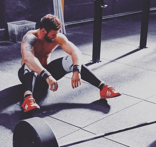 fitness food male crossfit athlete resting