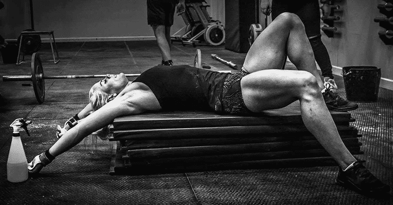sara sigmundsdottir female crossfitter tired after wod