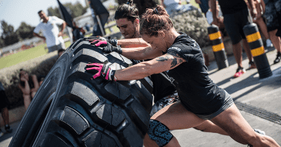 conditioning tire flip workout crossfit
