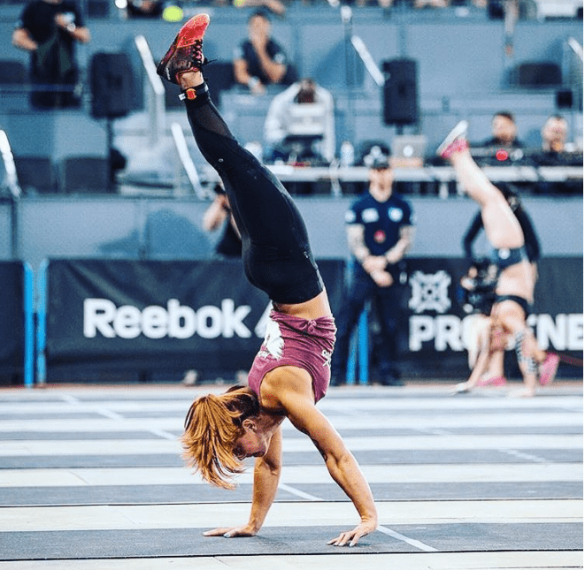 crossfit games athlete jamie greene handstand walk