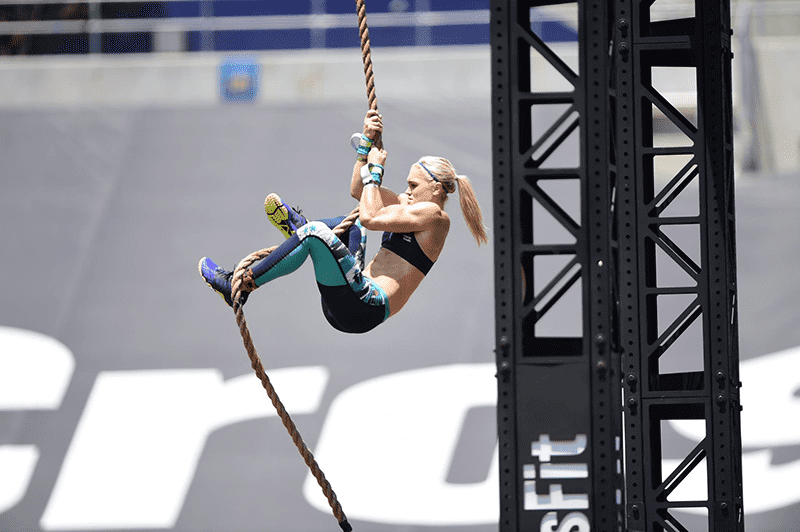 crossfit games photographs katrin davidsdottir rope climbs
