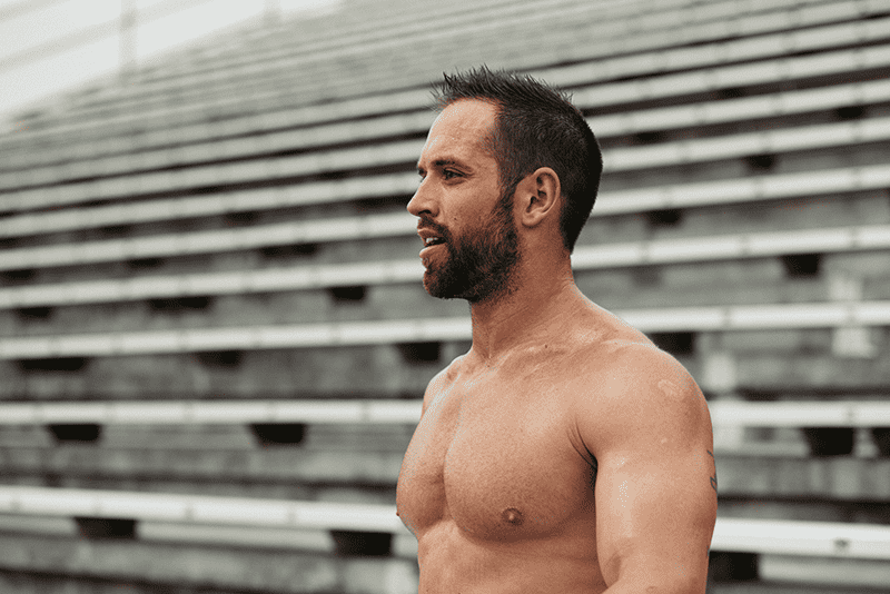 Rich Froning training techniques portrait shot