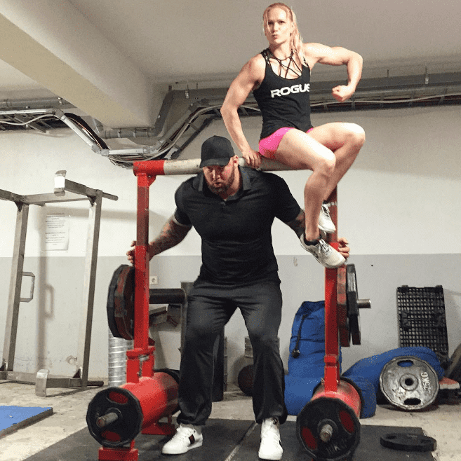 Annie thorisdottir and The mountain from game of thrones