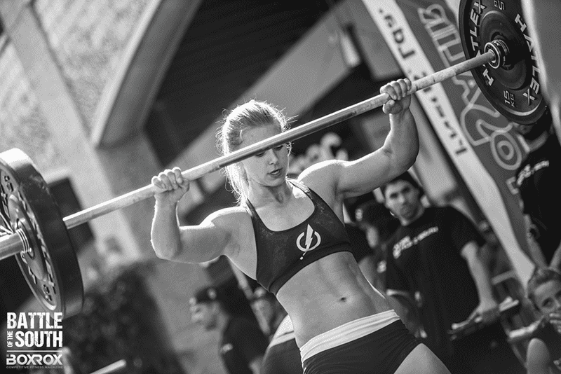 paleo diet crossfit performance female athlete after barbell lift