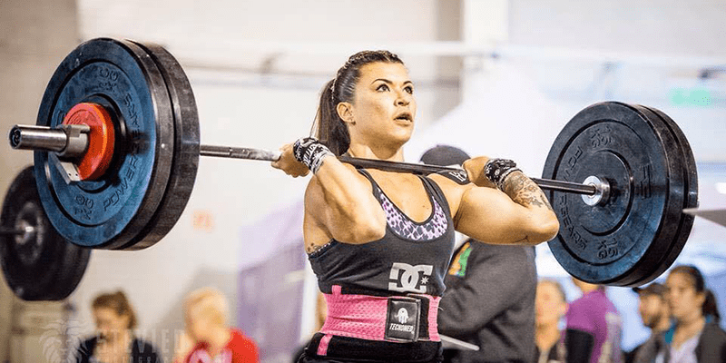 crossfit women power clean barbell olympic weightlifting amrap