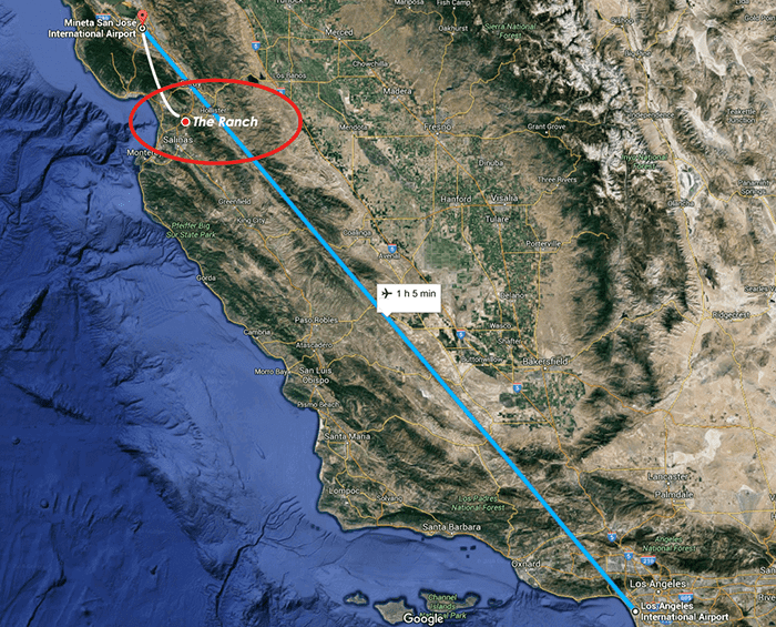 map of plane ride
