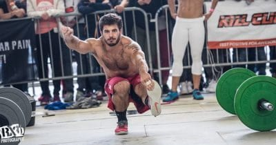 Mat Fraser pistol squat crossfit injury