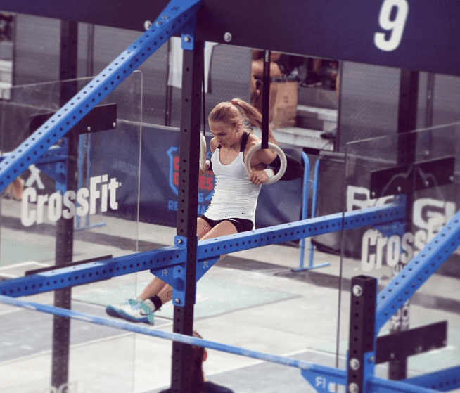 thuri erla helgadottir ring muscle up during regional nate