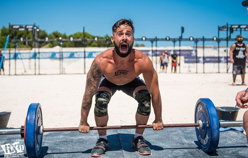 weightlifting crossfit man amrap workout