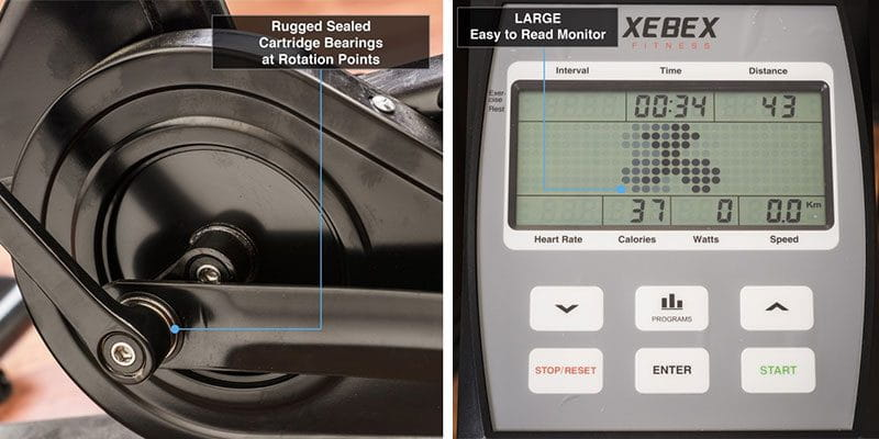 features on xebex air bike