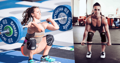 Camille Leblanc-Bazinet Squat Clean at the CrossFit Games