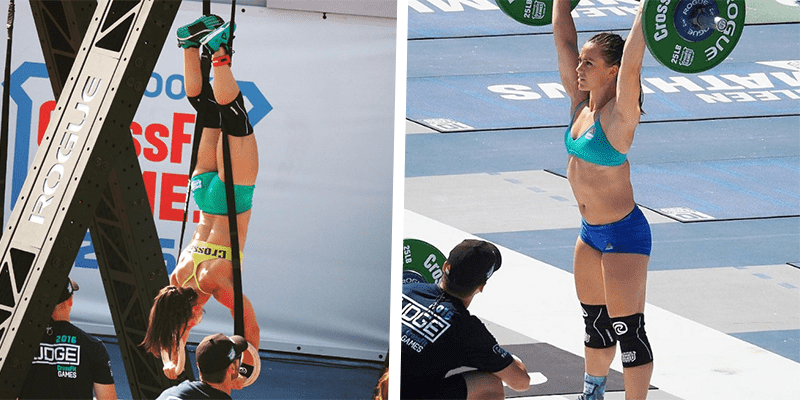camille leblanc-bazinet rehband kness sleeves crossfit games 2016