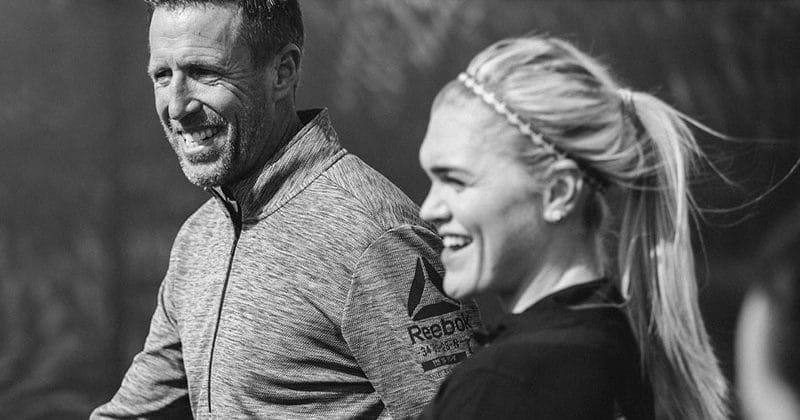 Chris Hinshaw and Katrin Davidsdottir running workouts