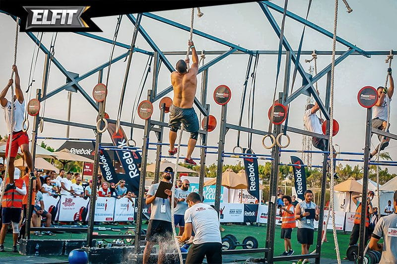 Elfit competition rope climbs