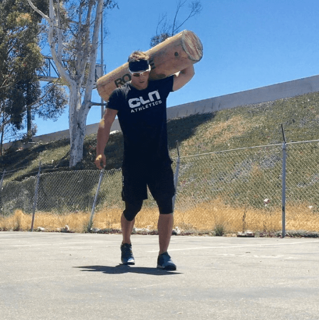 adrian mundwiler crossfit games athlete log carry fitness