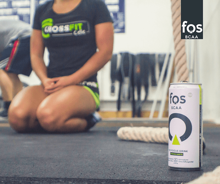 fos bcaa focus drink female athlete resting in between exercises