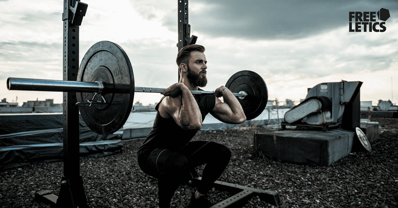 freeletics male athlete Clean with barbell