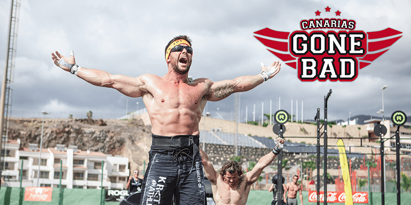 Canarias Gone Bad Throwdown 2016 athlete celebrates